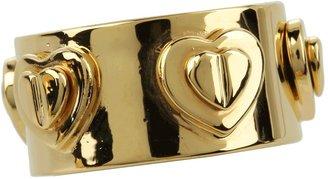 Betsey Johnson Status Heart Embellished Ring (Gold) - Jewelry