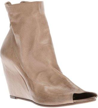 Elisanero Elisa Nero open toe wedge boot