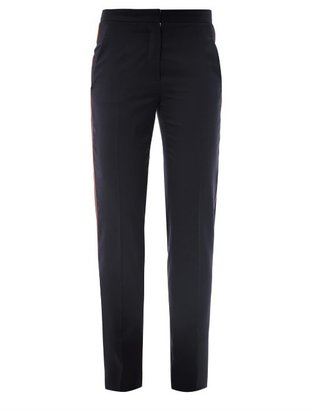 Stella McCartney Delphine contrast piping trousers