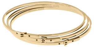 Michael Kors Skinny Buckle Bangles, Golden