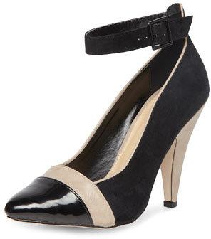 Dorothy Perkins Black ankle strap mid court
