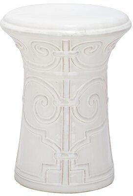 Safavieh Imperial Ceramic Garden Stool Color: White