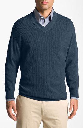 Cutter & Buck 'Portage Bay' V-Neck Sweater (Big & Tall)