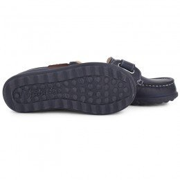 Naturino Navy Leather Velcro Shoes