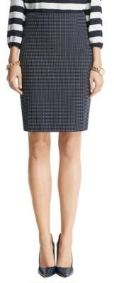 Anne Klein Dot Printed Pencil Skirt