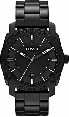 Fossil Men Machine Black Tone Stainless Steel Bracelet Watch 42mm FS4775
