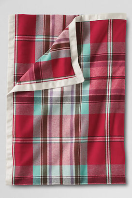 Lands' End Flannel Plaid Yarn Dye Throw