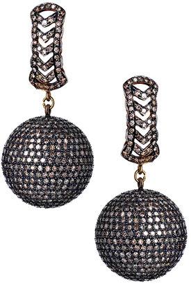 Haridra Diamond Disco Ball Earrings
