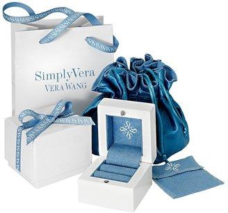 Vera Wang Simply vera diamond crisscross engagement ring in 14k white gold (3/4 ct. t.w.)