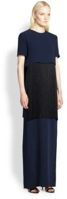 ADAM by Adam Lippes Fringed Crepe Gown