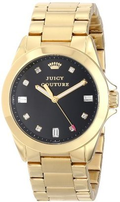 Juicy Couture Women's 1901122 Stella Black Dial Crystal Markers Watch $205 thestylecure.com