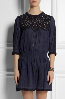 Sea Broderie anglaise cotton dress