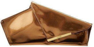 Badgley Mischka Alba Mirrior Clutch (Bronze) - Bags and Luggage