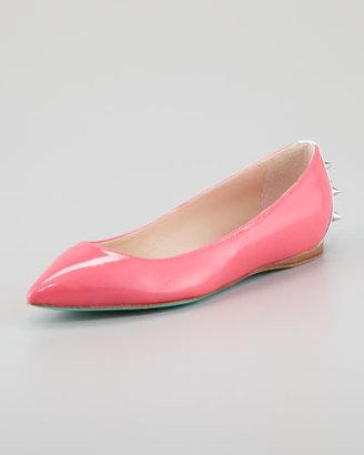 Ruthie Davis Boca Spiked Ballerina Flat, Strawberry