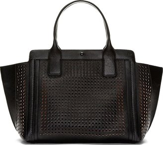 Chloé Black Perforated Leather Alison Small East-West Tote