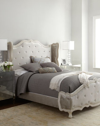 """Haute House Champagne """"Tabitha"""" Tufted King Bed"""