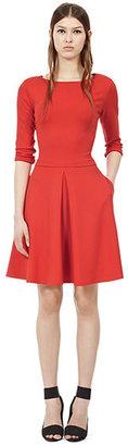 Reiss Hawn JERSEY FIT & FLARE DRESS