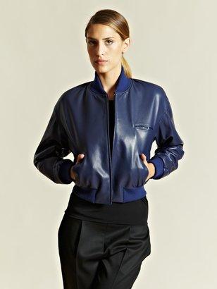 Jil Sander Women's Cropped Leather Bomber