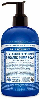 Dr. Bronner's Sugar Peppermint Organic Pump Soap by 12oz Liquid Soap)
