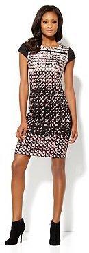 New York & Co. Ponte Houndstooth Sheath Dress