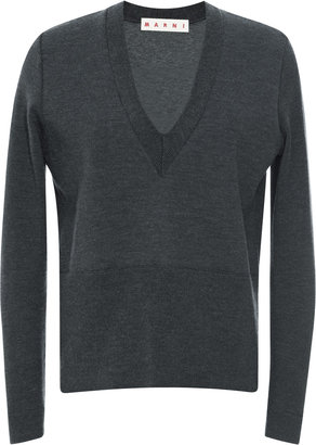 Marni Virgin Wool Deep V-Neck Sweater