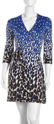 Julie Brown JB by Abstract-Print Wrap Dress