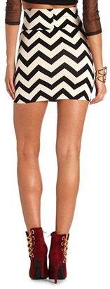 Charlotte Russe Chevron Print Mini Skirt