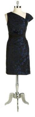 Vera Wang Jacquard Sheath Cocktail Dress