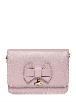 Vivienne Westwood Bow Pearled Faux Leather Shoulder Bag