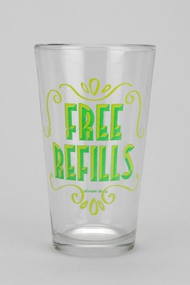 Urban Outfitters Free Refills Pint Glass