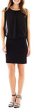JCPenney Scarlett Beaded-Trim Blouson Dress