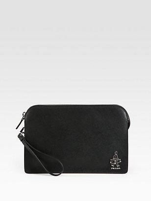 Prada Saffiano Leather Wristlet