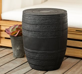Pottery Barn Metal Drum Side Table
