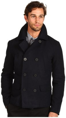 Shades of Grey Melton Wool Peacoat (Navy Melton) - Apparel