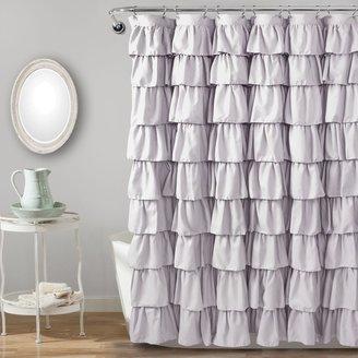 Lush Decor Ruffle Fabric Shower Curtain