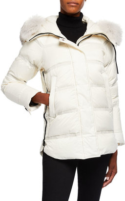 Peuterey Takan Detachable Fox Fur-Ruff Down Jacket