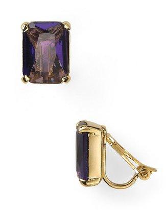 Lauren Ralph Lauren Emerald Cut Clip Earrings
