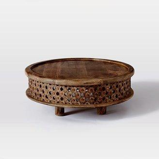 west elm Carved Wood Coffee Table