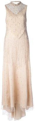 Haute Hippie embellished silk gown