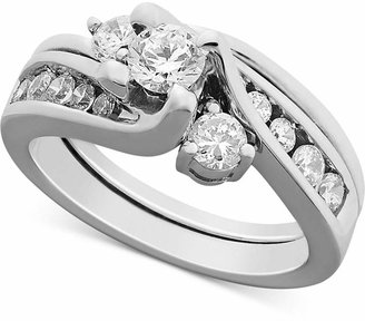 Macy's Certified Diamond Engagement Ring Bridal Set in 14k Gold or White Gold (1 ct. t.w.)