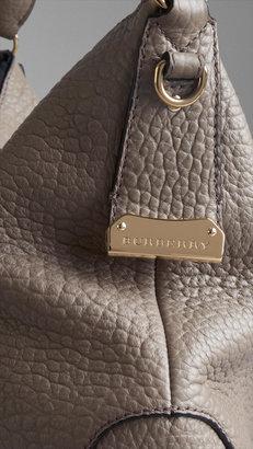 Burberry Small Signature Grain Leather Hobo Bag