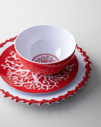 Kim Seybert Coral Branch Melamine Dinnerware
