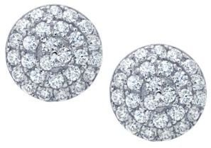 Crislu Micro Pave Cubic Zirconia Stud Earrings
