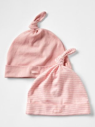 Gap Favorite pink knot hat (2-pack)
