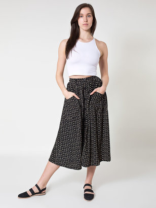 American Apparel Polyester Button Up Long Skirt