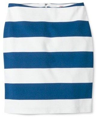 Merona Women's Ponte Skirt - Blue/Sour Cream