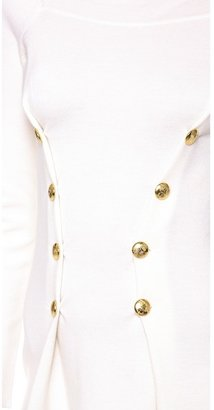 Moschino Gold Button Dress