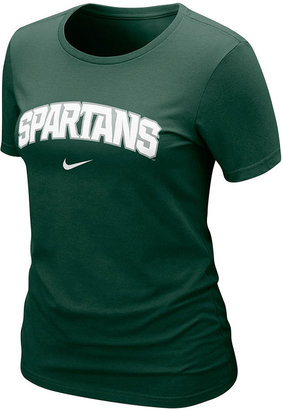 Nike Women's NCAA T-Shirt, Michigan State Spartans Arch Graphic Tee