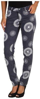 Roxy Colored Skinny Floods Jean in Blue Black Print