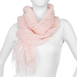 JCPenney Ruched Polka Dot Scarf